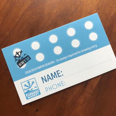 customer loyalty stamp card