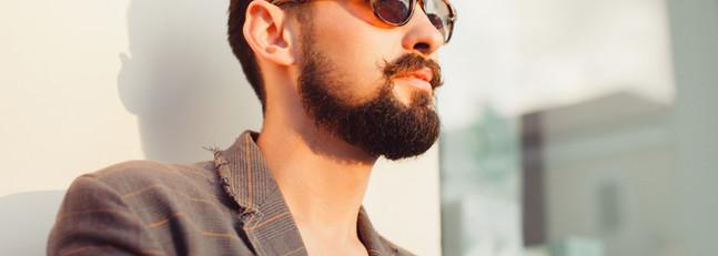 Clean sculpted beard