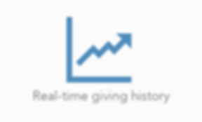 Real-time giving history - Round up, donate spare change