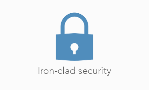 Iron-clad security - Round up, donate spare change