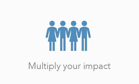 Multiply you impact - Round up, donate spare change