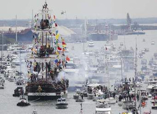 Opening a new book with Gasparilla, Tampa's famous pirate parade. What's missing? Help me li