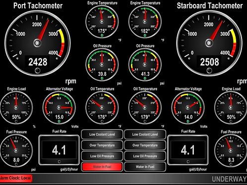 Custom Integrated NMEA2000 Control System