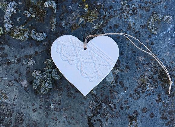Lite hjerte i porselen 7 cm