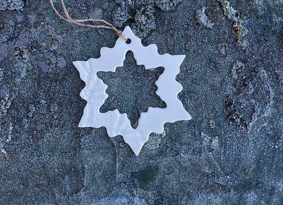 Liten snøkrystall med snøkrystall 6 cm
