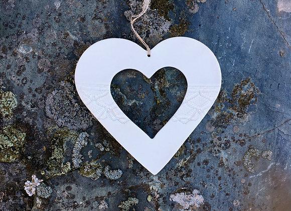 Stort hjerte med hjerte 14 cm