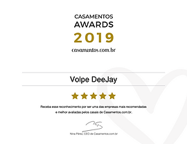 Volpe DeeJay DJ Prêmio Casamentos 2019 S