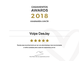 Volpe DeeJay DJ Prêmio Casamentos 2018 S
