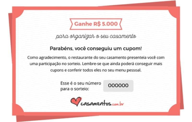 Cupom Casamentos.com | Fonte: Casamentos.com