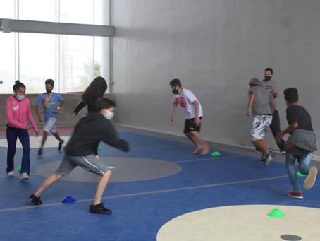 Primeiras atividades na nova Quadra Poliesportiva