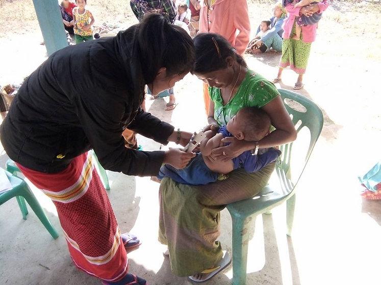 Growth Monitoring Children remote area Kachin Myanmar