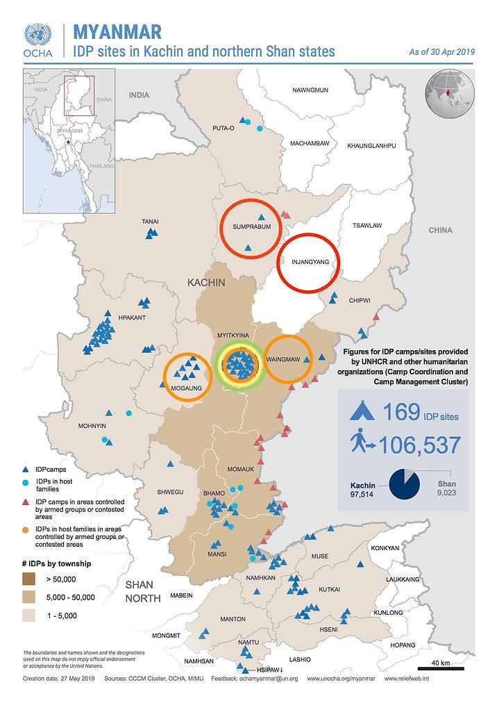 CHAD NGO project locations Kachin Myanmar