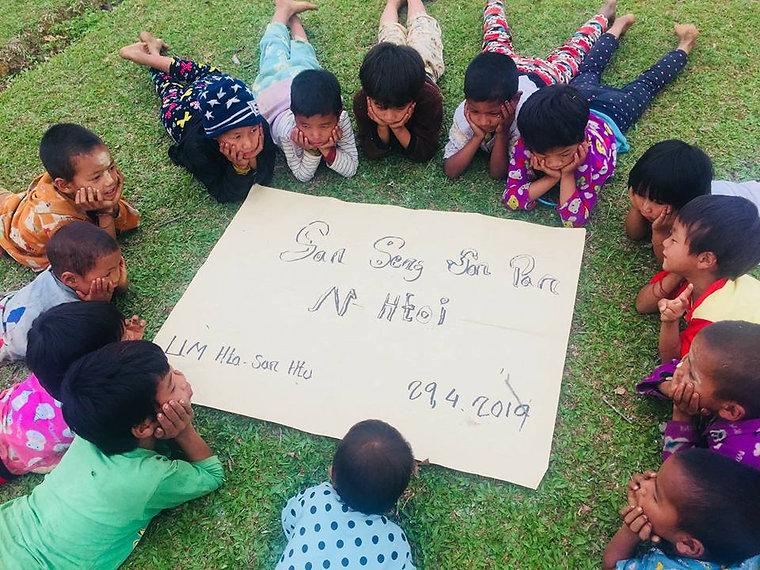 WASH awarness children remote area Kachin Myanmar