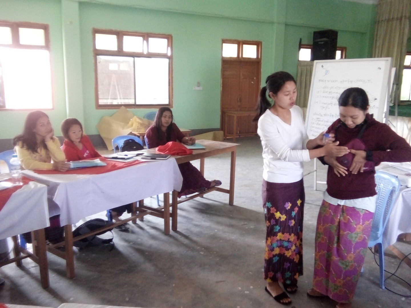 Breast feeding training for community mobilizers