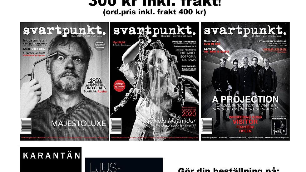 Svartpunkt. nr 3+4+5 (inklusive Ljuspunkter 2020 och KARANTÄN-CD inom Sverige