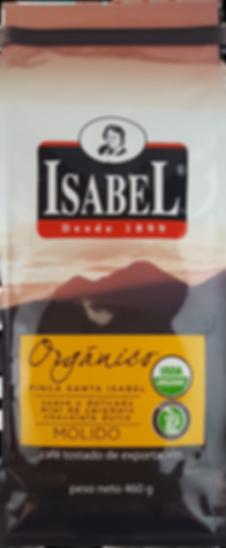Café Isabel, Café Orgánico molido de cálidad premium