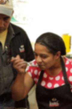 Catadores de café en la Finca Santa Isabel