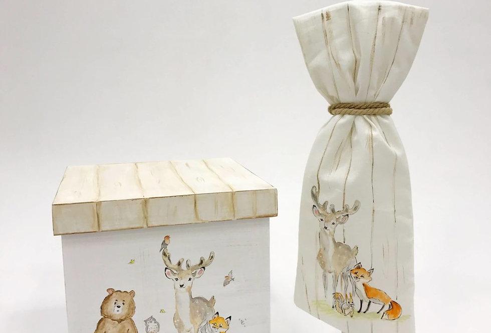 Βαπτιστικό κουτί αποθηκεύσεις ζώα του δάσους  FOREST BUDDIES