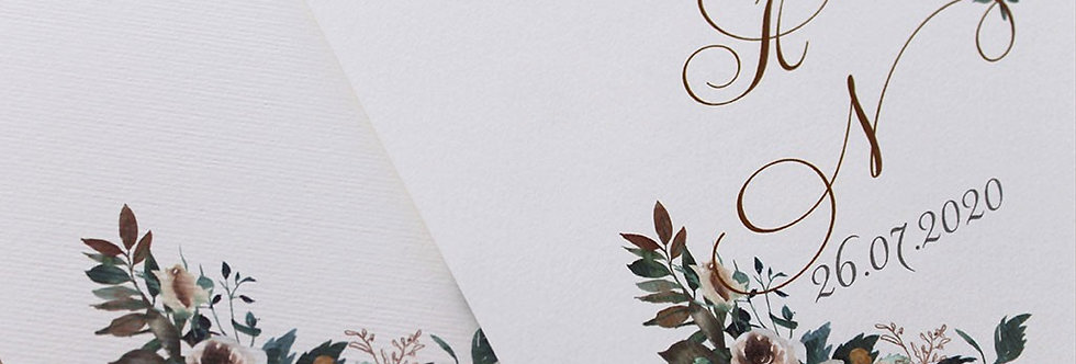 Προσκλητήριο Γάμου White Flowers