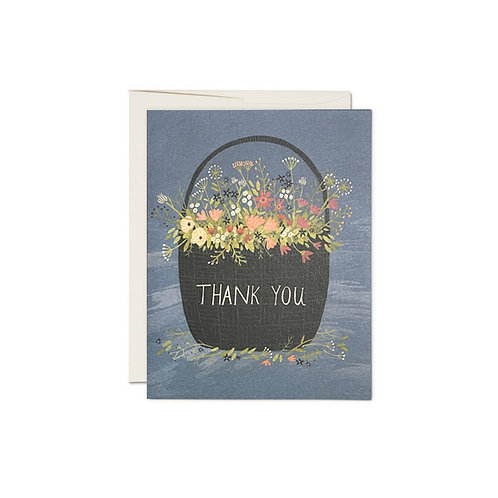 """RED CAP CARDS  /  GREETING CARD  """"THANK YOU"""""""