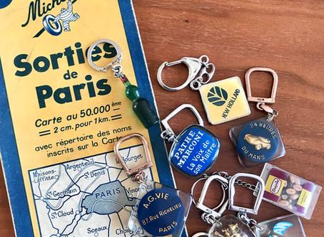 French advertising keychain