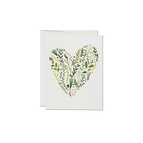 "RED CAP CARDS  ""FLORAL HEART"""