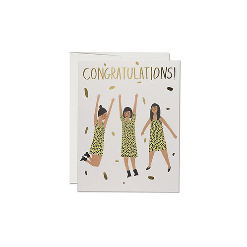 "RED CAP CARDS  ""THREE WOMEN CONGRATS"""