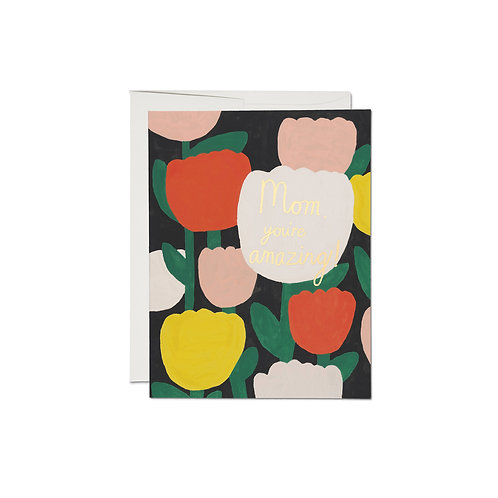 """RED CAP CARDS  /  GREETING CARD  """"AMAZING TULIPS"""""""