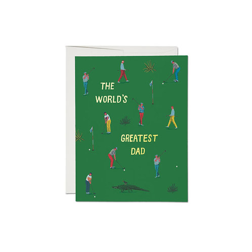 """RED CAP CARDS  /  GREETING CARD  """"GOLF DAD"""""""