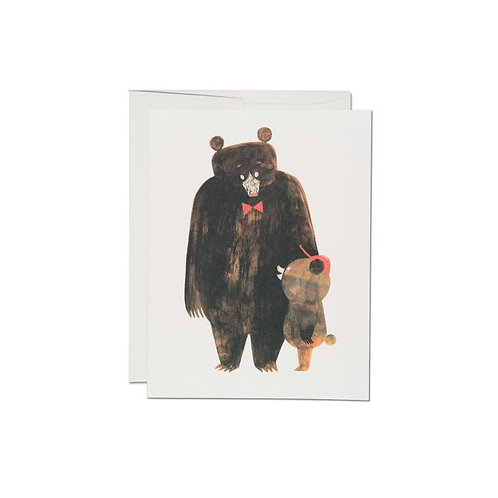 """RED CAP CARDS  /  GREETING CARD  """"DADDY BEAR"""""""