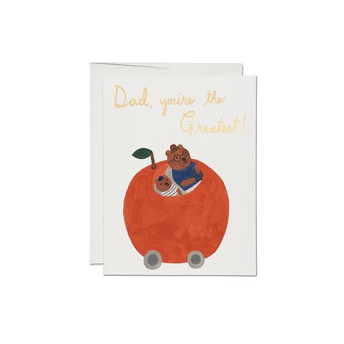 "RED CAP CARDS  /  GREETING CARD  ""ORANGE CAR"""