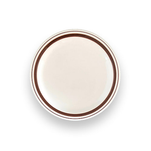 """BROWN LINE HARD TABLEWARE  9"""" Plate"""