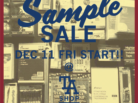 【 Announcement 】SAMPLE SALE
