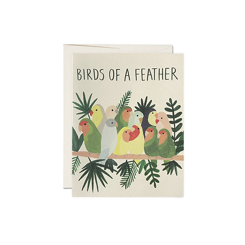 """RED CAP CARDS  /  GREETING CARD  """"Birds of a feather"""""""