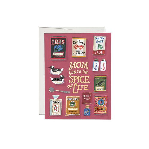"""RED CAP CARDS  /  GREETING CARD  """"SPICY MOM"""""""