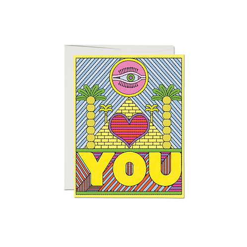 """RED CAP CARDS  /  GREETING CARD  """"EYE HEART YOU"""""""