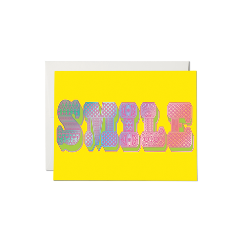 """RED CAP CARDS  /  GREETING CARD  """"SMILE TYPOGRAPHY"""""""
