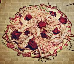 spaghetti on the wall
