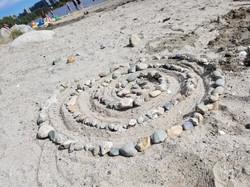 Spiral beach art