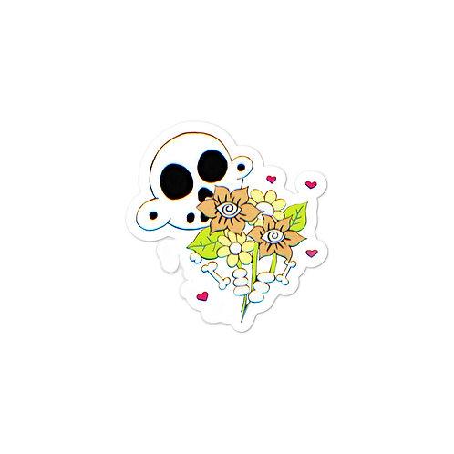"""Zanoskull - """"Flower Bouquet"""" Sticker"""