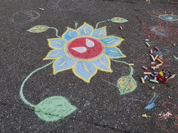 First chalk of the year. 💛🌻_._._._