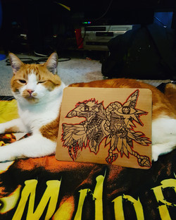 Cat approved art