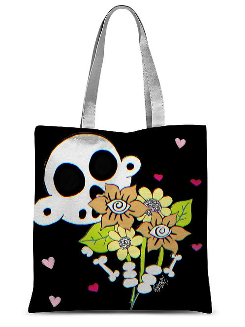 """Zanoskull - """"Bouquet of Flowers"""" Sublimation Tote Bag"""
