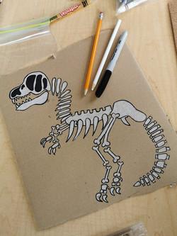 Zanoskull - Dino bones