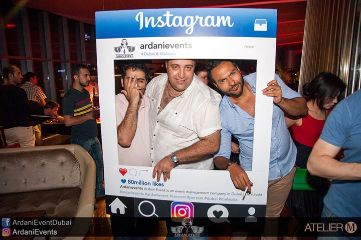 OFFICIAL CONCERT AFTER PARTY _ATELIER M - PIER 7 AT DUBAI MARINA .__THANKS FOR PAINTIG OUR NIGHT WIT