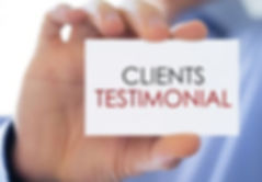clients-testimonial-business-card-concep