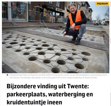 Artikel over aquaParker in TC Tubantia