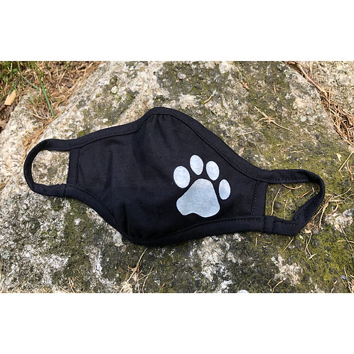 Paw Print Youth Face Mask
