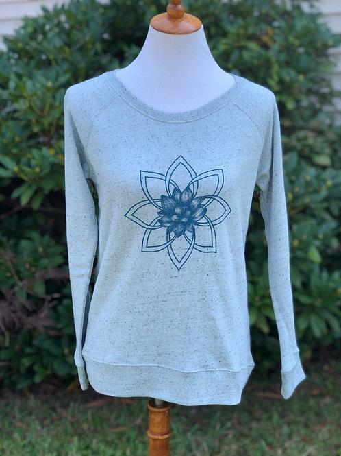 Women's Lotus Mandala Fleece Sweatshirt