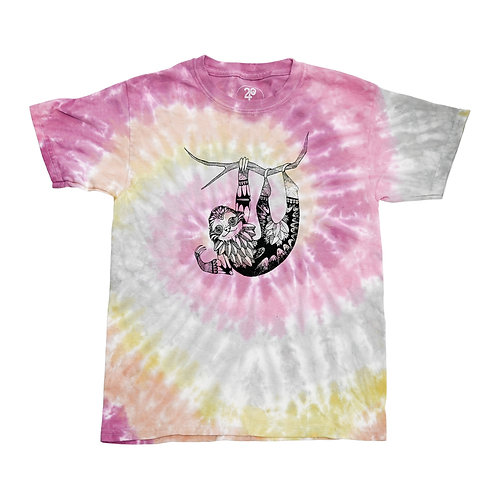 Kid's Sloth Tie Dye Tee - Wholesale